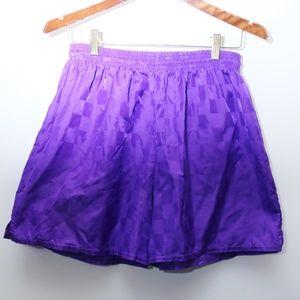 "80's Vintage ""VITAL"" Purple Nylon Athletic Shorts"